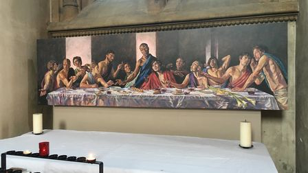 The A Last Supper painting in St Albans Cathedral. Picture: Alan Davies