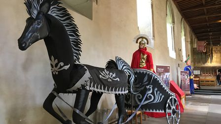 The Pilgrimage Puppet Exhibition in St Albans Cathedral. Picture: Alan Davies