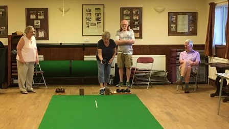Alconbury Carpet Bowls Club is back in action after a nearby firm coronavirus delay. Picture: CLUB