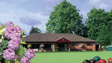 A general view of the green and clubhouse at the Spenser Road home ofHarpenden Bowling Club.