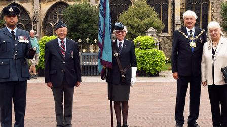 A service to mark the 75th anniversary of VJ Day was held on Huntingdon Market Square.