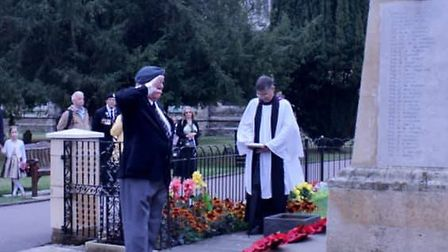 A service took place at the war memorial at St Mary's Church in St Neots on VJ Day.