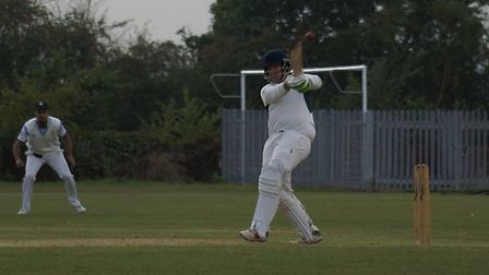 Edward Hales in action for Redbourn during their win over Horndon-on-the-Hill in the National Villag