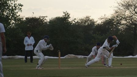 Hugh Craig in action for Redbourn during their win over Horndon-on-the-Hill in the National Village