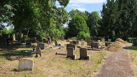 All Saints Church Graveyard in Sawtry has been restored by volunteers PICTURE: Tom