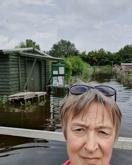 Burydell Lane allotment chair Kim Scrivener has been in touch with St Albans Council, Affinty Water