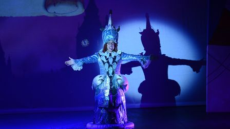 Bob Golding in a fishy dress as Mrs Smee in St Albans pantomime Peter Pan