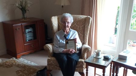 Irene Woodcock from Harpenden turns 100 on August 14. Picture: Susan Dalton