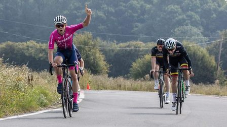 Luke Houghton takes the win for Verulam Reallymoving at the Bovingdon Bomber. Picture: JUDITH PARRY