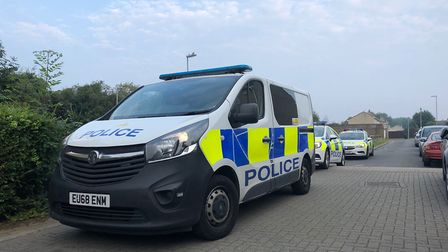 Five arrested following major police operation in Huntingdon. Picture: CAMBS POLICE