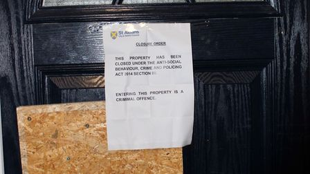 A house in Ladies Grove in St Albans has been served with a three-month closure order following anti