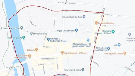 A dispersal order is being put in place in an area of St Neots following recent violent disorders in
