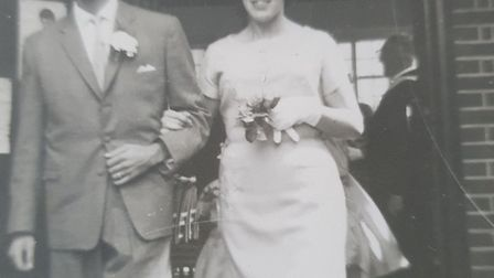 Ann and George Wright celebrated their 60th wedding anniversary this week. Picture: Supplied