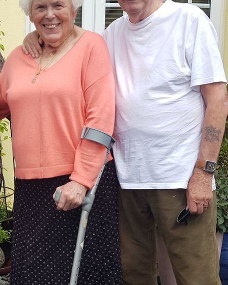 Ann and George Wright celebrated 60 years of marriage. Picture: Supplied