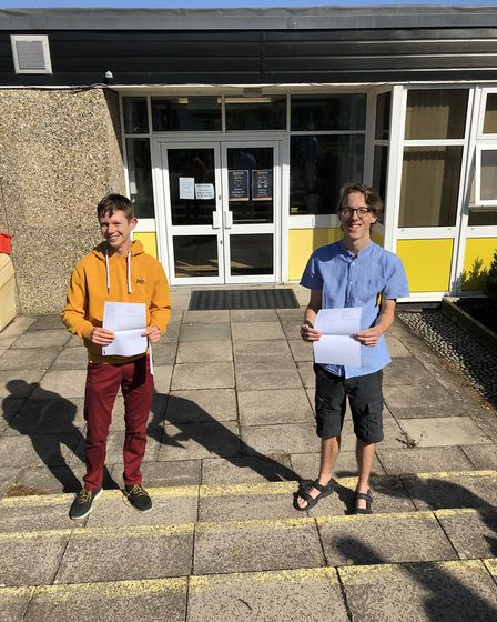 William Page and Daniel Hawker are both going on to study A-levels. William achieved two grade 9s, t