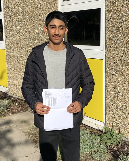 Ismaele Nabi achieved five grade 9s, one grade 8 and two grade 7s, and will be going to Hills Road S