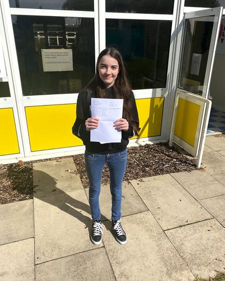 Caitlin Walker was very happy with her results, securing five 9s and three 8s. Picture: King James A