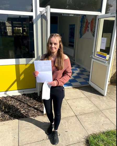 Poppy Davidson achieved two 9s and seven 8s and is off to study A-levels at Hills Road. Picture: Kin