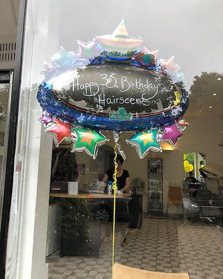 The salon in St Albans marked the occasion with a balloons and cakes. Picture: Maria Gaskin