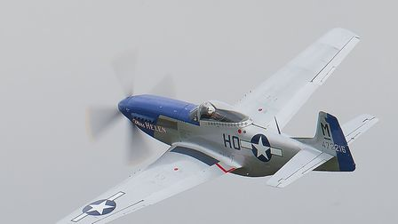 P-51 Mustang 'Miss Helen' in the air at the August 19 IWM Duxford Showcase Day. Picture: Gerry Weath