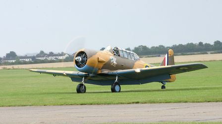 A T6 Harvard at the IWM Duxford Showcase Day on Wednesday, August 19. Picture: Gerry Weatherhead