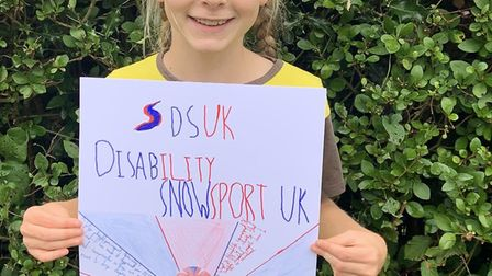 Beatrix Ruffles is undertaking a charity ski to raise money for Disability Snowsport UK. Picture: Li