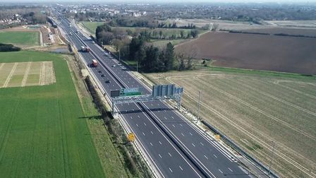 The A14 has closures starting Monday August 24 for four nights . Pictures: Highways England