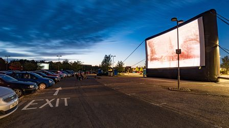 The opening night on Thursday, August 20 of the Cambridge Drive-In Cinema at Trumpington Park & Ride