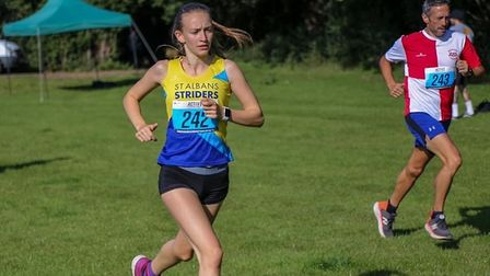 Hannah Rayden of St Albans Athletics Club and St Albans Striders in action during the 2020 St Albans