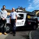 Ben Cooper from A&D Electrical Services with his mentor, former leader of St Albans District Council
