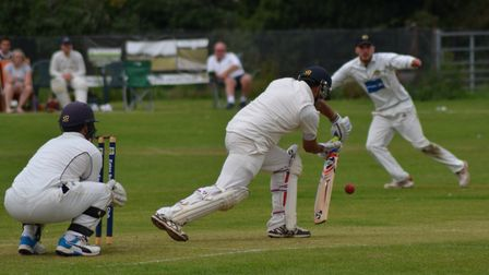 Action as Eaton Socon beat Liphook & Ripsley in the National Village Cup. Picture: SIMON COOPER