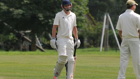 William Heslam's magnificent 111 wasn't enough as Reed lost narrowly to Welwyn Garden City. Picture: