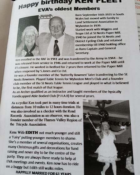 Ken Fleet worked at Samuel Jones for many years and was well known in the area.