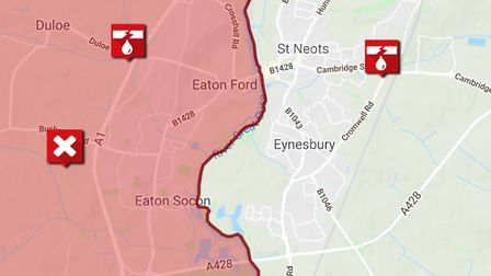 Burst Water Main in St Neots PICTURE: