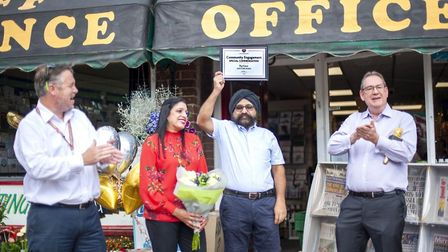 Raj Kaur has won the community engagement category in the Post Office's We're Stronger Together awar