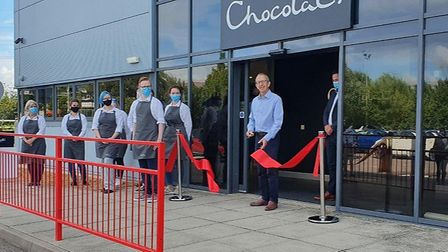 Hotel Chocolat has opened a factory outlet in St Neots