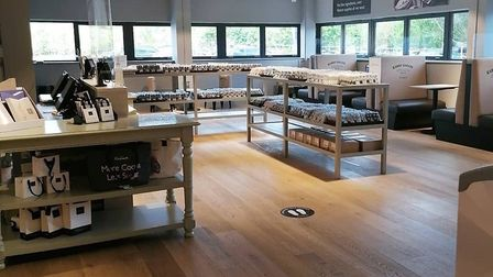 The cafe at the new Hotel Chocolat in Eaton Socon