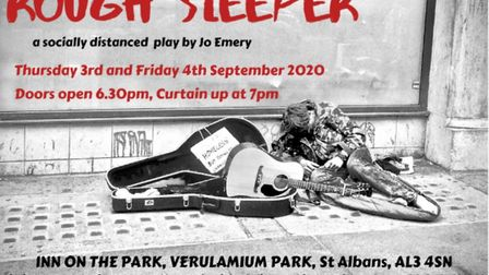 Jo Emery's play Rough Sleeper returns to St Albans for two performances at the Inn on the Park on Th