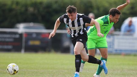 Harry Lewis went close to scoring twice on Tuesday night at Hadley. Picture: KARYN HADDON