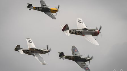 The Flying Legends Air Show at Duxford IWM last year. Picture: JAMIE PLUCK