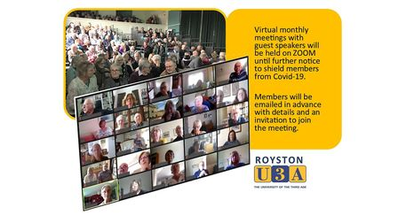 Royston U3A is holding its monthly meetings via Zoom to protect its members. Picture: Royston U3A