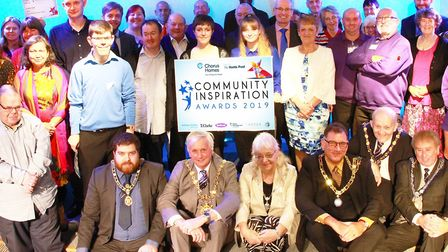 Award finalists and winners of the Chorus Homes Community Inspiration Awards 2019, together with boa