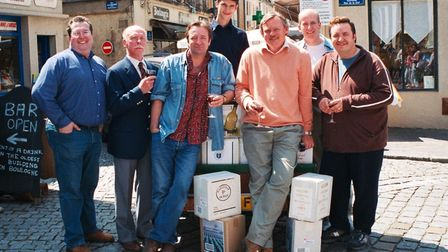 Brian Leveson, Paul Minett and the cast of The Booze Cruise. Picture: supplied by Company of Ten