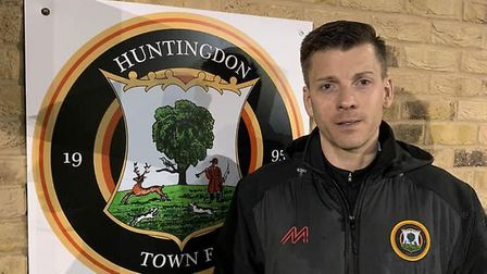 Huntingdon Town manager Laurence Revell. Picture: HUNTINGDON TOWN FC