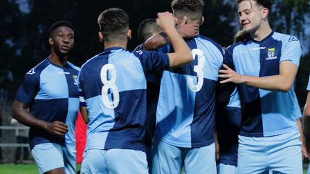 St Neots Town won 4-0 in the FA Cup extra-preliminary round against Pinchbeck United. Picture: DAVID