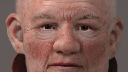 A facial reconstruction of John of Wheathampstead. Picture: Liverpool John Moores University and Fac