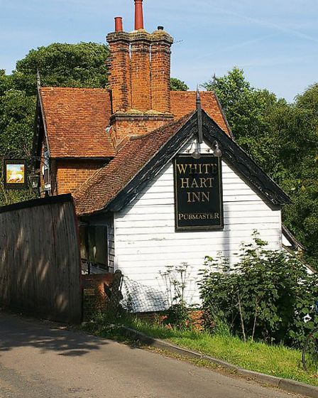 The 17th century White Hart pub on Sergehill Lane closed in 2009 and is now a private house. Picture
