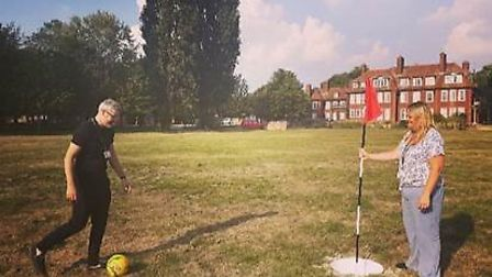 Patients at mental health facility Kneesworth House Hospital built their own foot-golf course. Pictu