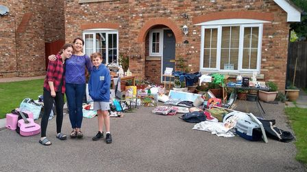 A garage sale took place in Godmanchester.