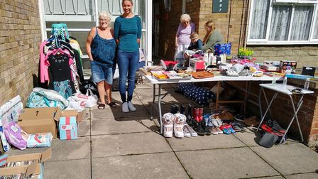 The garage sale in Godmanchester raised money for several orgnanisations.